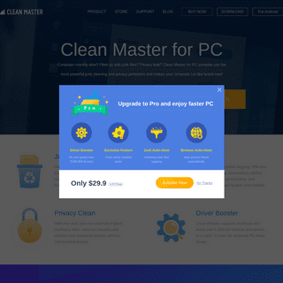 Clean Master for PC - A world's leading cleaner & booster tool.