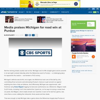 Media praises Michigan for road win at Purdue