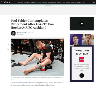 ArchiveBay.com - www.forbes.com/sites/trentreinsmith/2020/02/23/paul-felder-contemplates-retirement-after-loss-to-dan-hooker-at-ufc-auckland/ - Paul Felder Contemplates Retirement After Loss To Dan Hooker At UFC Auckland