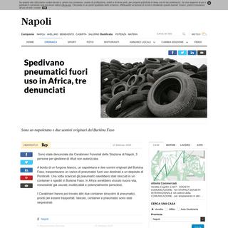 Spedivano pneumatici fuori uso in Africa, tre denunciati - la Repubblica