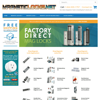 MAGNETICLOCKS.NET-- Your #1 Source for Magnetic Locks, Electromagnetic Locks, Gate Locks and More!