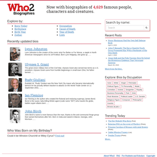 ArchiveBay.com - who2.com - Who2 - Biographies of famous people, celebrities, historic figures, and more