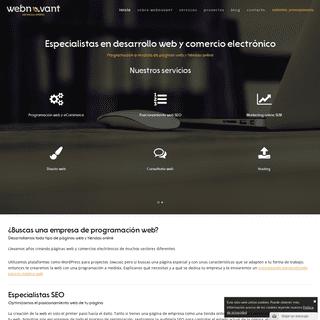 Webnovant - Programación de páginas web y tiendas online a medida