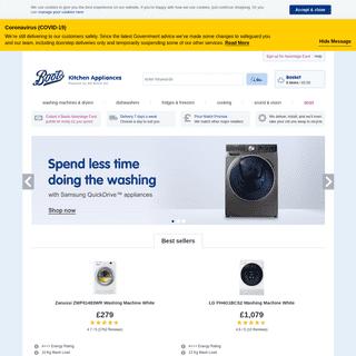 Boots Kitchen Appliances - Washing Machines, Fridges & More