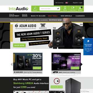 Inta-Audio - Music PC Systems - Computer Music Solutions