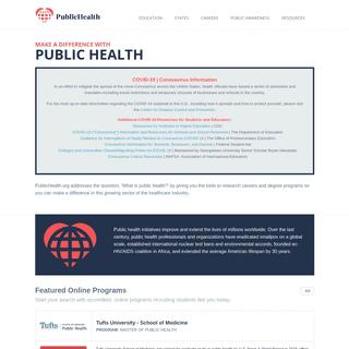 Public Health Education, Career, and News