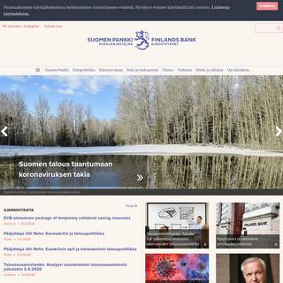 Suomen Pankin verkkopalvelu
