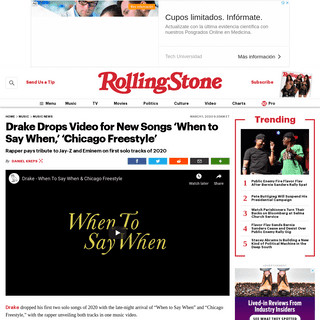 ArchiveBay.com - www.rollingstone.com/music/music-news/drake-when-to-say-when-chicago-freestyle-video-new-songs-960195/ - Drake Drops New Songs 'When to Say When,' 'Chicago Freestyle' - Rolling Stone