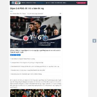 Dijon 1-6 PSG- Đại tiệc bàn thắng - VTV.VN