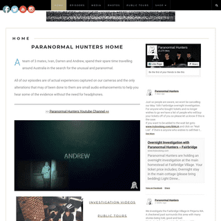 Paranormal Hunters - Aussie paranormal investigators