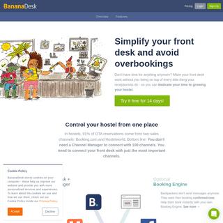 Simple Property Management for Hostels - BananaDesk