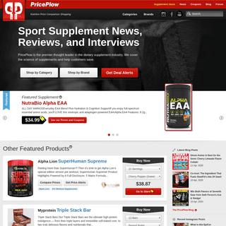 PricePlow - Compare Prices & Save on Nutritional Supplements