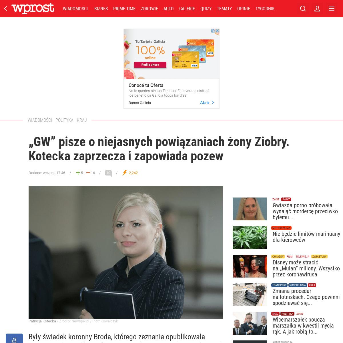 """""""GW"""" o niejasnych powiązaniach żony Ziobry"""