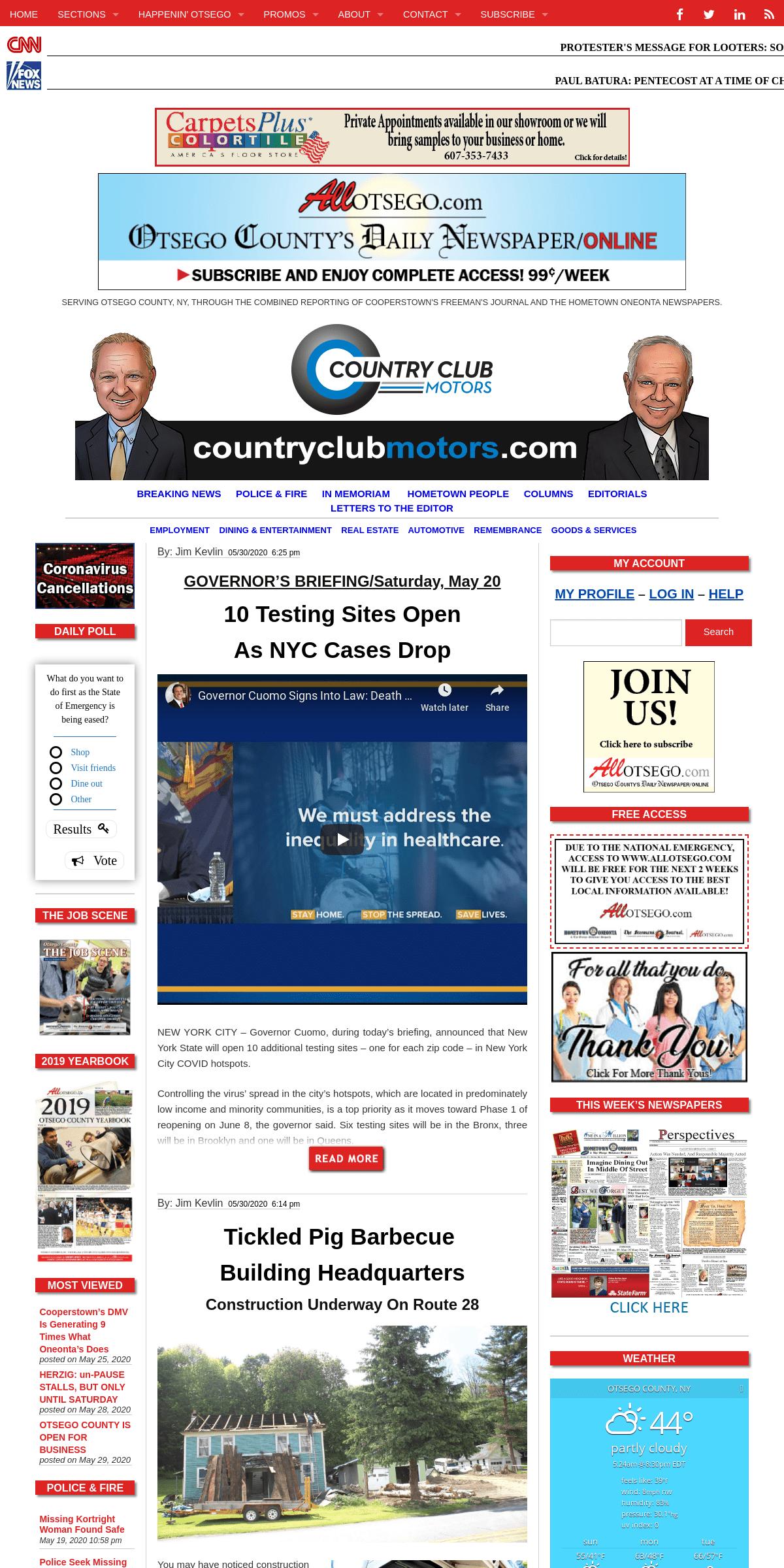 AllOTSEGO.com - News of Otsego County
