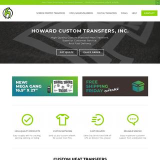 Howard Custom Transfers, Inc. - Quality Custom Heat Transfers