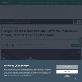 ArchiveBay.com - www.football.london/west-ham-united-fc/liverpool-west-ham-live-updates-17805508 - Liverpool vs West Ham live- Kick-off time, team news, stream, latest score and goal updates - football.london