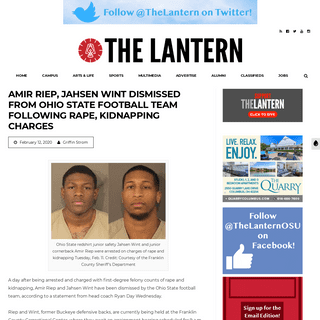 Amir Riep, Jahsen Wint dismissed from Ohio State football team following rape, kidnapping charges – The Lantern