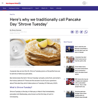 Here's why we traditionally call Pancake Day 'Shrove Tuesday' - Hartlepool Mail