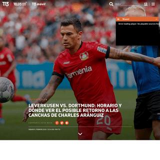 A qué hora juegan el Leverkusen y el Dortmund - Tele 13