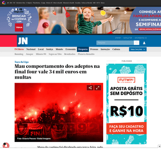 Mau comportamento dos adeptos na final four vale 34 mil euros em multas - JN