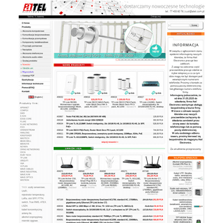 Import i dystrybucja elementów sieci teleinformatycznych, urządzeń pomiarowych oraz akcesoriów audio-video