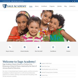 Sage Academy - Phoenix Charter School - Elementary, Junior High, Preschool