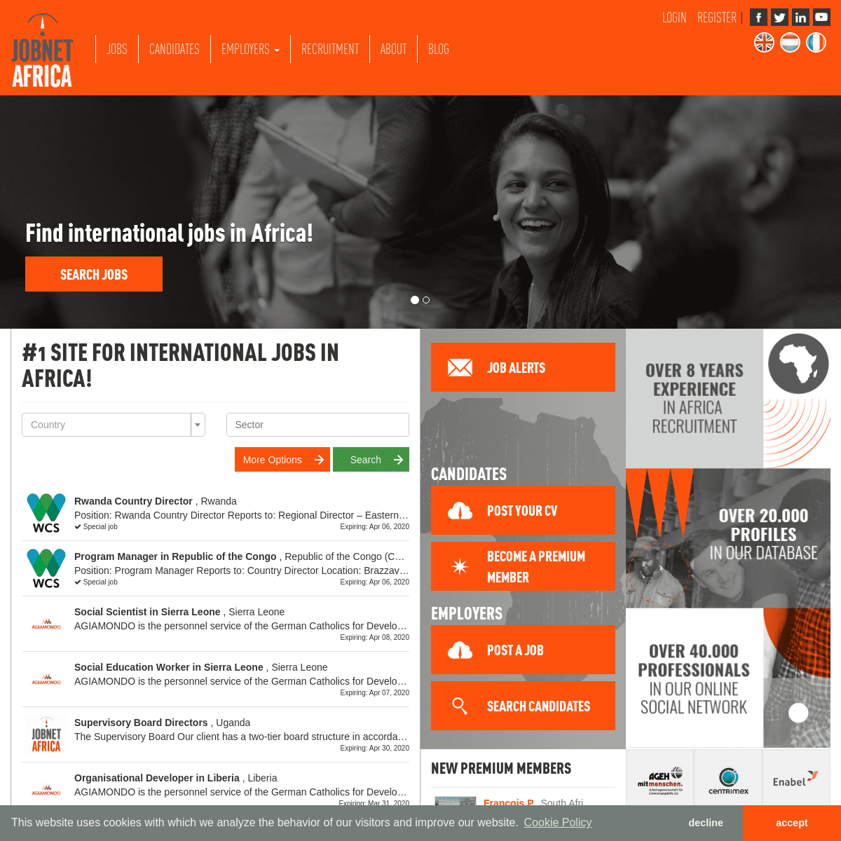 Find international jobs in Africa - JobnetAfrica
