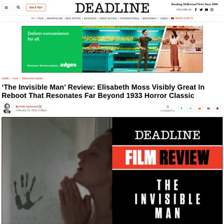 [WATCH] 'The Invisible Man' Review- Elisabeth Moss, Leigh Whannell Horror Movie – Deadline
