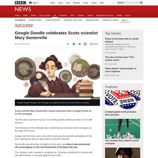 Google Doodle celebrates Scots scientist Mary Somerville - BBC News