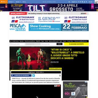 -Attimi di circo- e -BolleStrabelle-- a Orbetello il giovedì grasso tutto dedicato ai bambini - IlGiunco.net