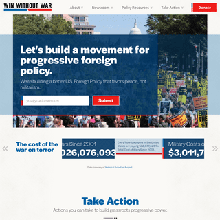 Win Without War - A Movement for Progressive Foreign Policy