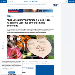 ArchiveBay.com - www.lvz.de/Leipzig/Lokales/Alles-Gute-zum-Valentinstag!-Diese-Tipps-haben-LVZ-Leser-fuer-eine-glueckliche-Beziehung - Alles Gute zum Valentinstag! Diese Tipps haben LVZ-Leser für eine glückliche Beziehung