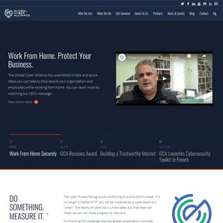 Home - GCA - Global Cyber Alliance - Working to Eradicate Cyber Risk
