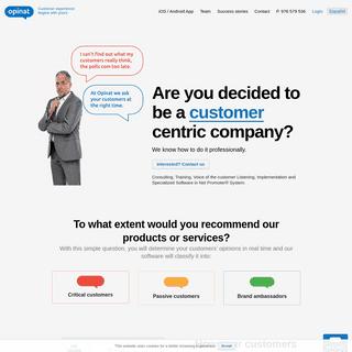 Opinat NPS - La experiencia del cliente empieza con la tuya