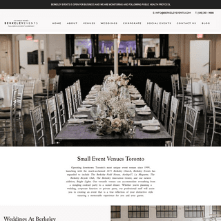 Downtown Toronto Event Venues by Berkeley Events