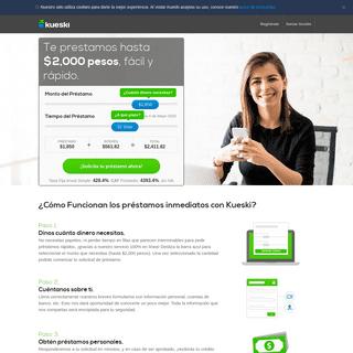 Kueski- Préstamos personales inmediatos - Créditos rápidos y sin aval en México