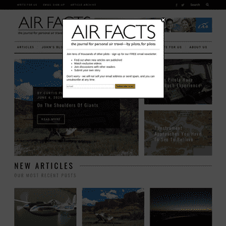 Air Facts Journal - the aviation magazine for pilots, by pilots