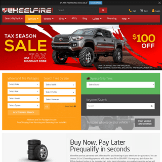 Wheel and Tire Packages On Sale Now - Aftermarket Wheels and Rims - Wheelfire