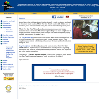 ArchiveBay.com - musicnotes.net - Music Notes, Inc, Music You Can Read® - Elementary Music Curriculum