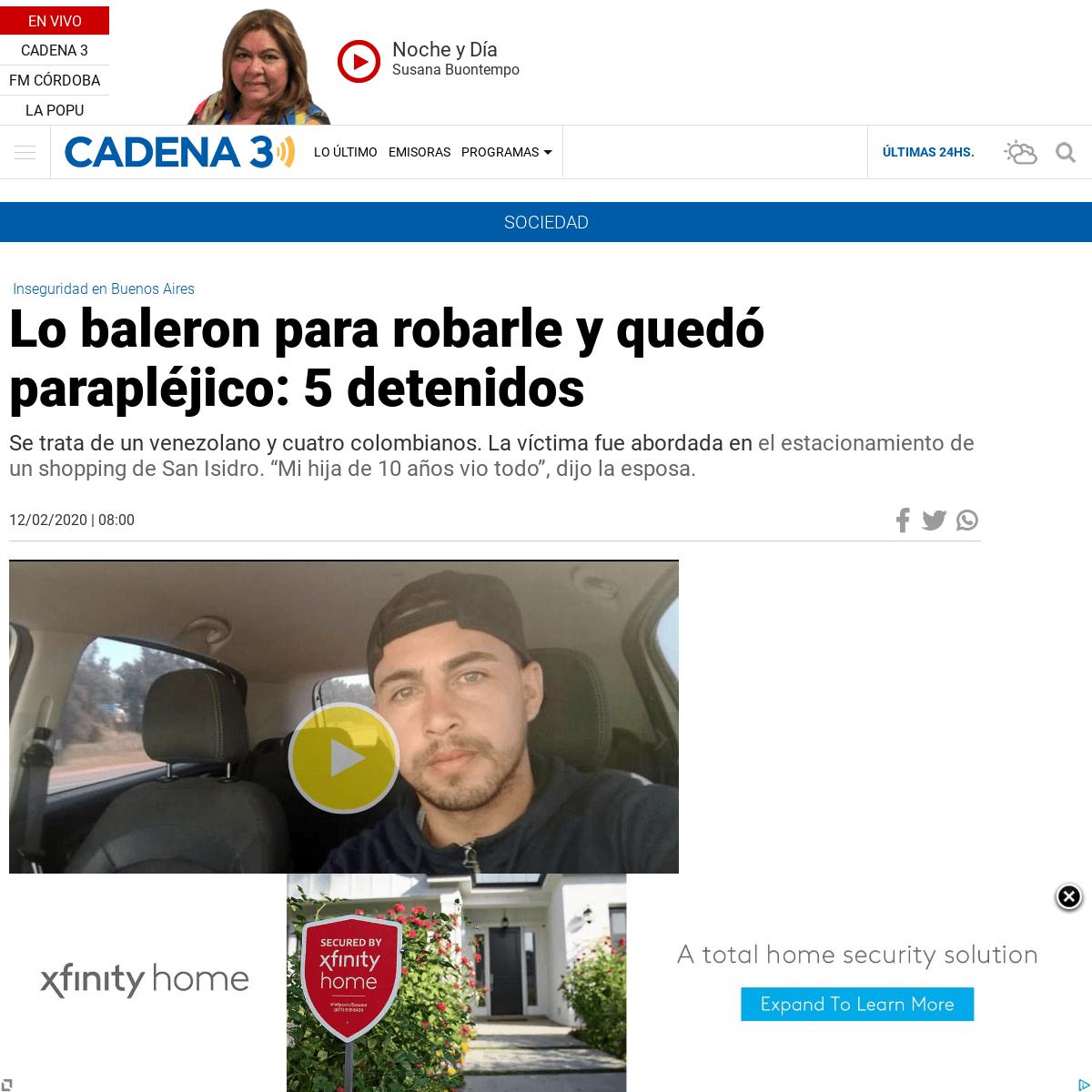 ArchiveBay.com - www.cadena3.com/noticia/sociedad/lo-baleron-para-robarle-y-quedo-paraplejico-5-detenidos_252768 - Lo baleron para robarle y quedó parapléjico- 5 detenidos - Noticias - Cadena 3 Argentina