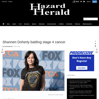 Shannen Doherty battling stage 4 cancer - Entertainment - hazard-herald.com