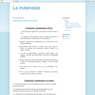 ArchiveBay.com - laeutanasia1.blogspot.com - La eutanasia