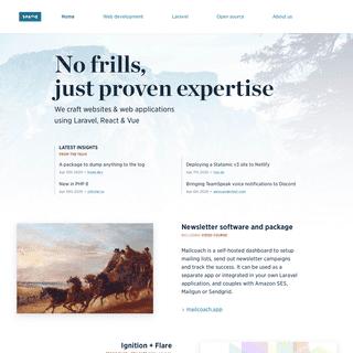 Websites & webapplications in Laravel - Spatie