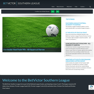 Welcome to the BetVictor Southern League - The BetVictor Southern League