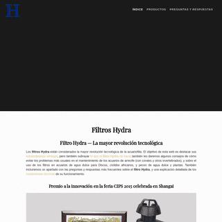 Filtro Hydra — La mayor revolución tecnológica