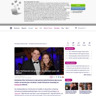 Rico Verhoeven en partner na dertien jaar uit elkaar - NU - Het laatste nieuws het eerst op NU.nl