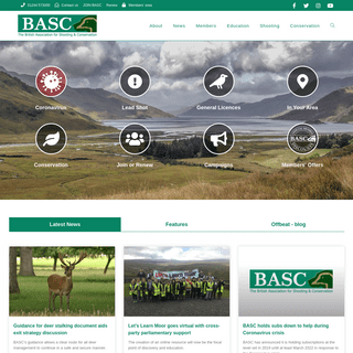 ArchiveBay.com - basc.org.uk - Home - The British Association for Shooting and Conservation