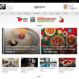 epicure - Luxury Food Magazine Based In Singapore & Indonesia