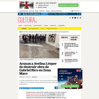 Acusan a Avelina Lésper de destruir obra de Gabriel Rico en Zona Maco