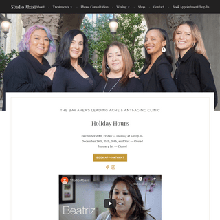 Studio Abasi – The Bay Area's leading Acne & Anti-aging Clinic